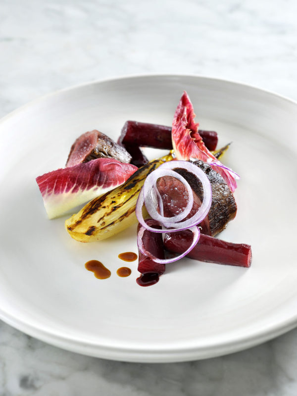 Scorzonera, Red Beetroot, Elixir d'Anvers, Chicory, Venison, Red Onion