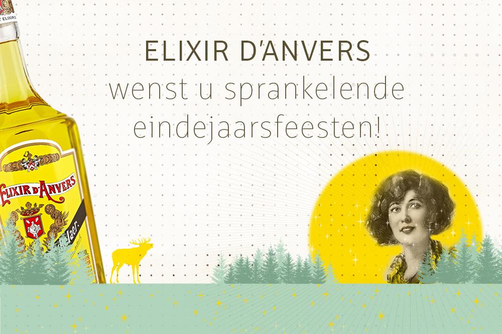 Elixir d'Anvers Wenst U Sprankelende Eindejaarsfeesten