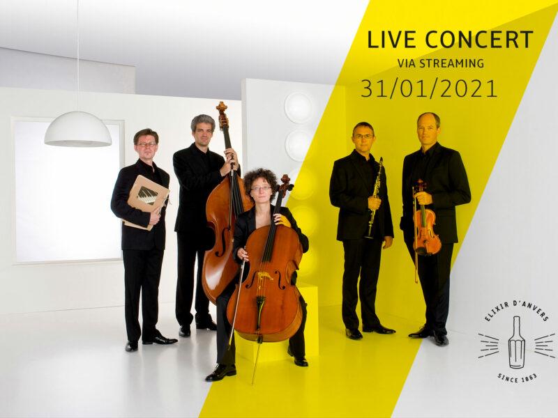 Livestream nieuwjaarsconcert ensemble Elixir d'Anvers